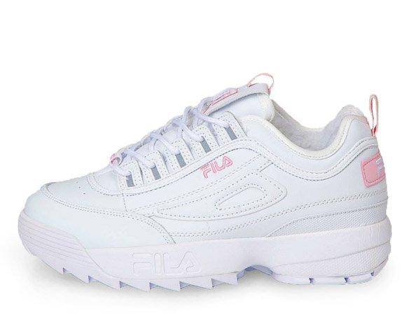 Fila disruptor 2 white-pink зимние с мехом