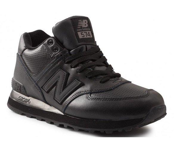New Balance 574 leather черные