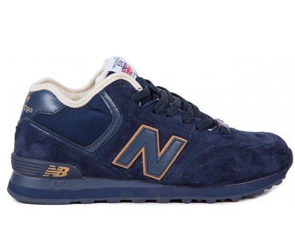 New Balance 574 синие зимние