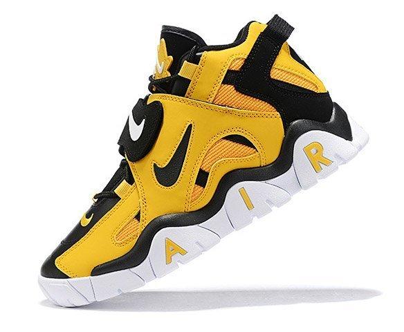 Nike Air Barrage mid white yellow black