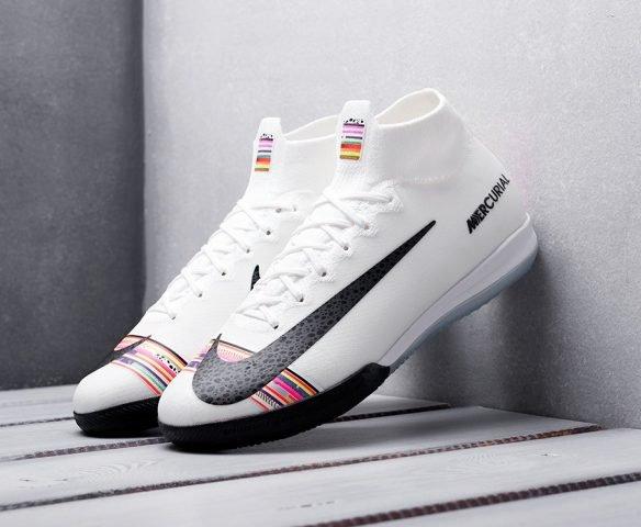 Nike Mercurial Superfly VI Elite IC белые