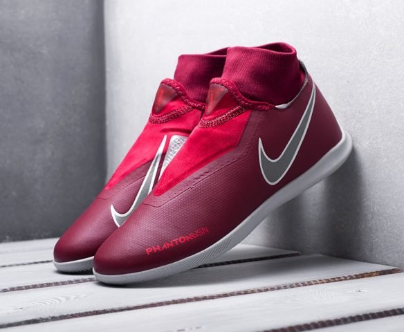 Nike Phantom VSN Academy DF IC бордовые