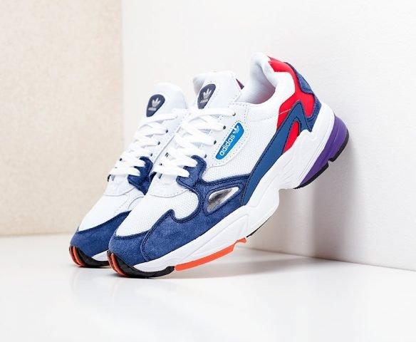 Adidas Falcon W бело-синие