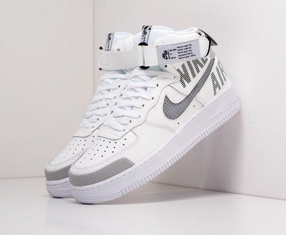 Nike Air Force 1 High 07 LV8 белые с серым