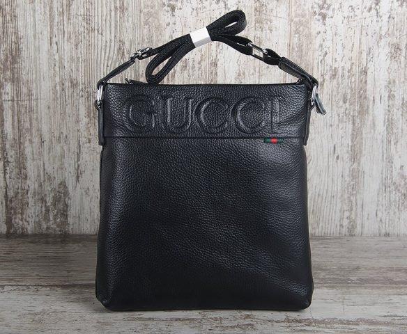 Сумка Gucci кожаная черная