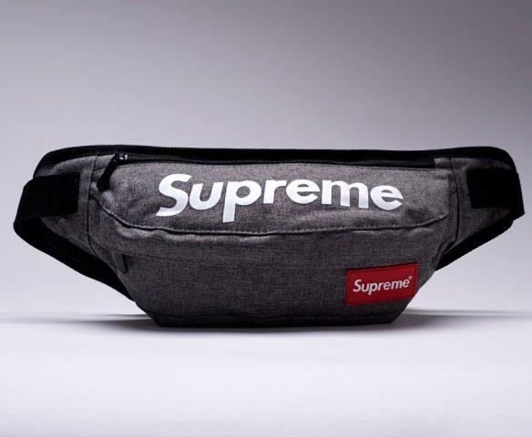 Сумка Supreme серая