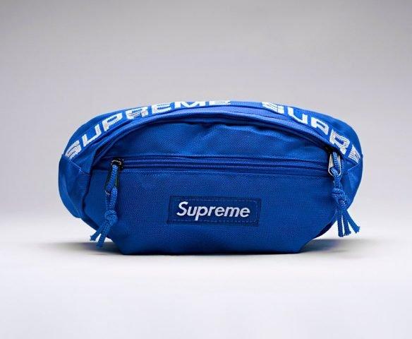 Сумка Supreme поясная синяя