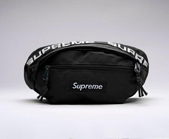 Сумка Supreme поясная черная