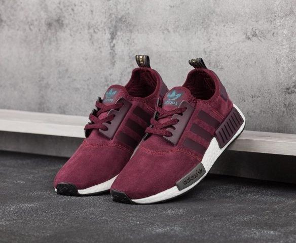 Adidas NMD Runner R1 Suede бордовые