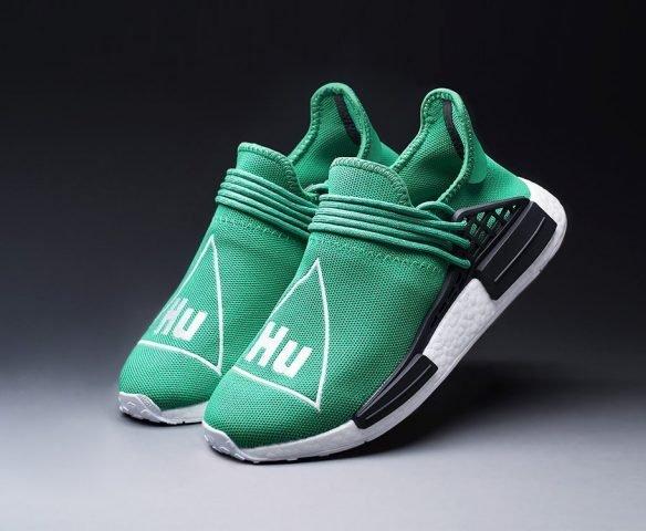 Adidas Nmd x Pharrell Williams зеленые