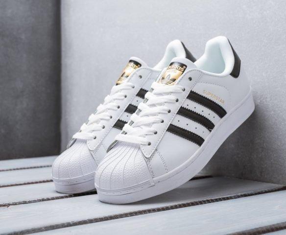 Adidas Superstar белые с черным