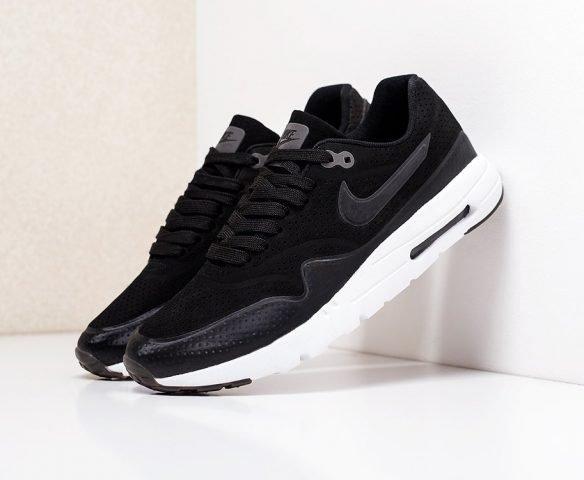 Nike Air Max 1 черные с белым