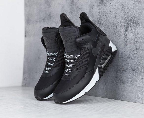 Nike Air Max 90 Sneakerboot черные с белым