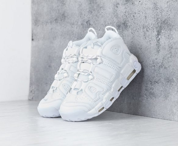 Nike Air More Uptempo all white