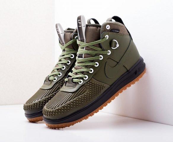 Nike Lunar Force 1 Duckboot зеленые