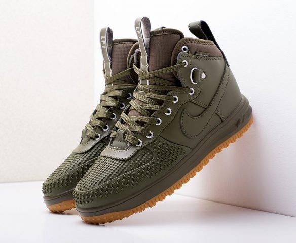 Nike Lunar Force 1 Duckboot темно-зеленые