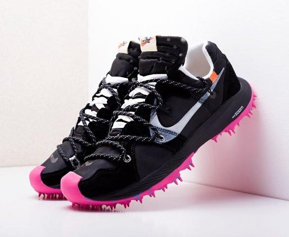 Nike x Off-White Zoom Terra Kiger 5 черные с розовым