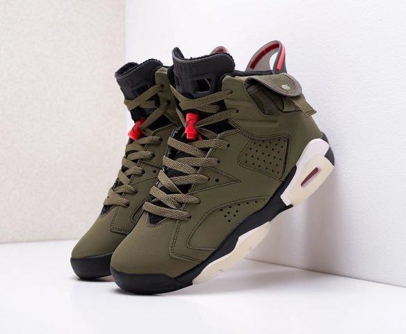Nike x Travis Scott Air Jordan 6 зеленые