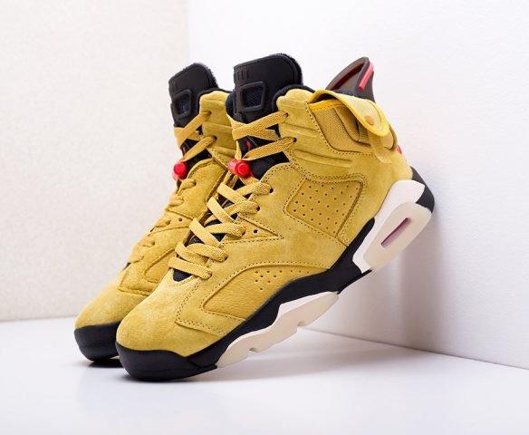 Nike x Travis Scott Air Jordan 6 желтые