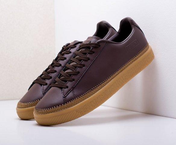 Puma Basket Stitched Shoes коричневые