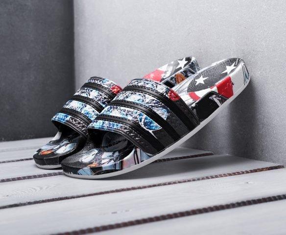 Сланцы Adidas разноцветные
