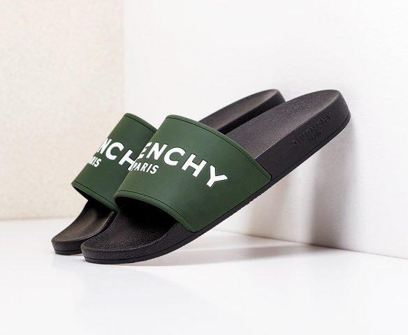 Сланцы Givenchy черно-зеленые