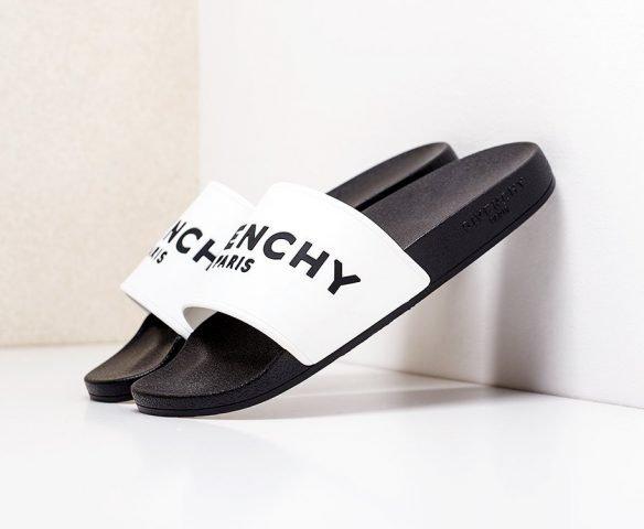 Сланцы Givenchy черно-белые