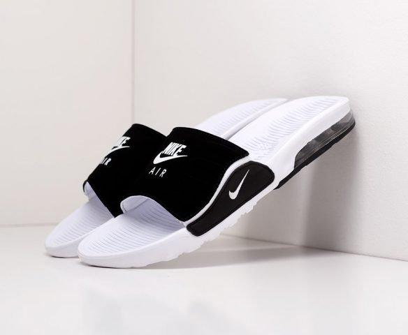 Сланцы Nike Air бело-черные