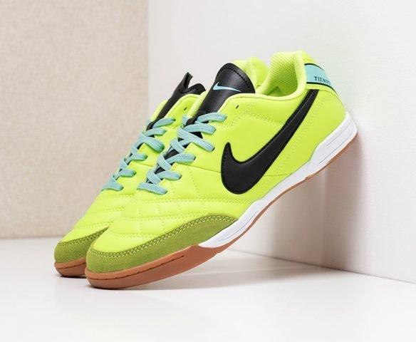 Футбольная обувь Nike Tiempo green