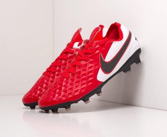 Футбольная обувь Nike Tiempo Legend VIII Elite FG red