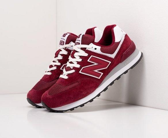 New Balance 574 темно-красные