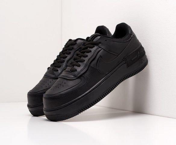 Nike Air Force 1 Shadow черные