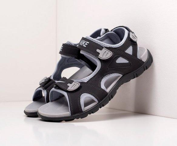 Сандали Nike черно-серые
