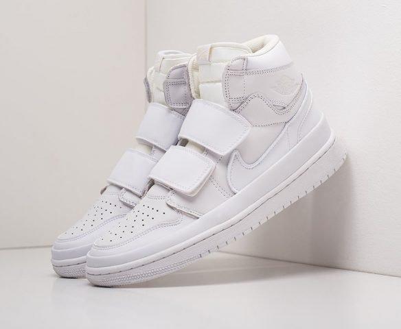 Nike Air Jordan 1 High Double Strap белые