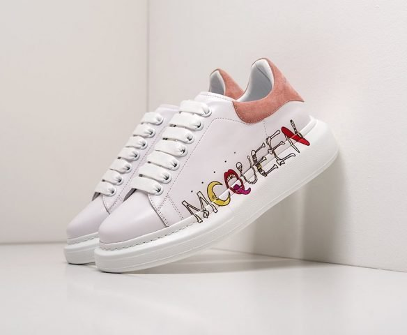 Alexander McQueen Lace-Up Sneaker leather white