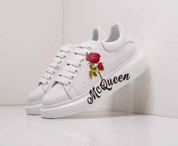 Alexander McQueen Lace-Up Sneaker leather белые