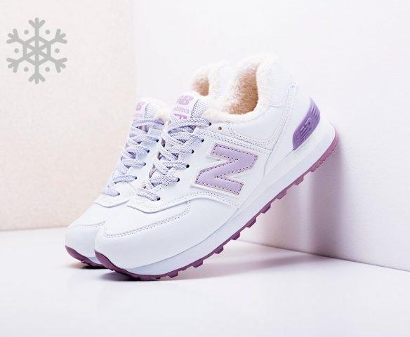 New Balance 574 white winter