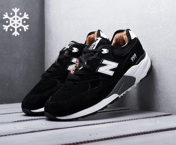 New Balance 999 зимние black-white