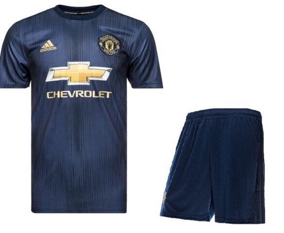 Футбольная форма Adidas FC Man Unt синяя