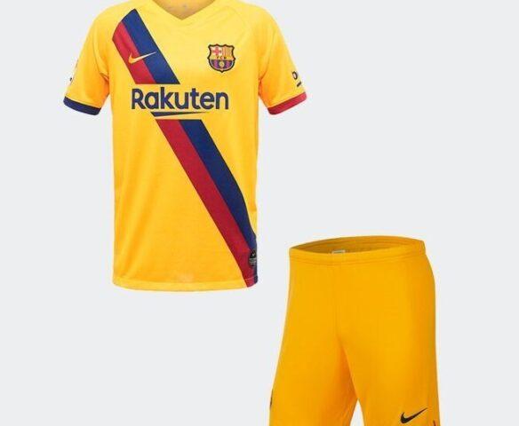 Футбольная форма Nike FC Barcelona желтая