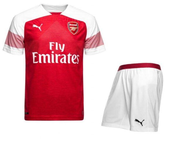 Футбольная форма Puma FC Arsenal красно-белая