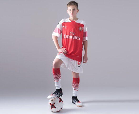 Футбольная форма Puma FC Arsenal бело-красная