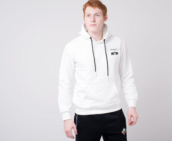 Худи OFF-WHITE белый с принтом