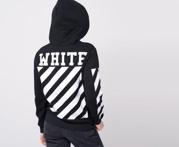 Худи OFF-WHITE черно-белый