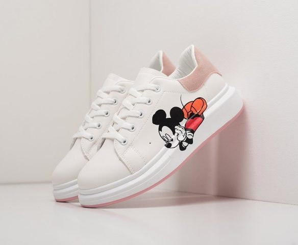 Alexander McQueen Lace-Up Sneaker mickey mouse