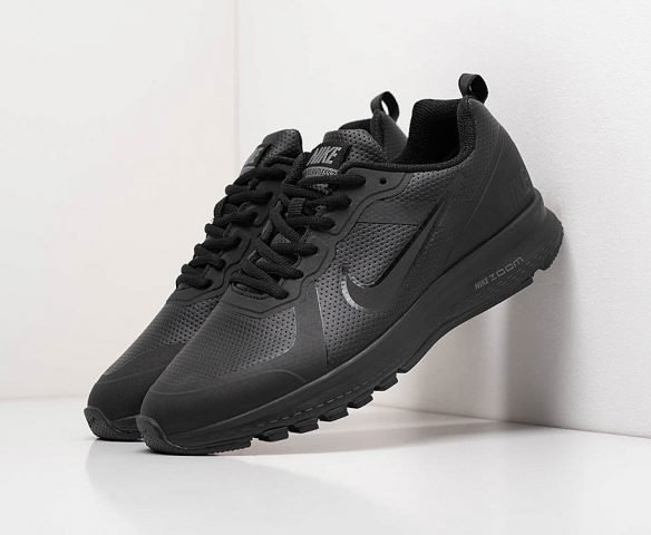 Nike Air Pegasus +30 кожаные черные