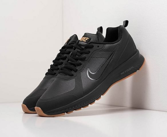 Nike Air Pegasus +30 экокожа черные