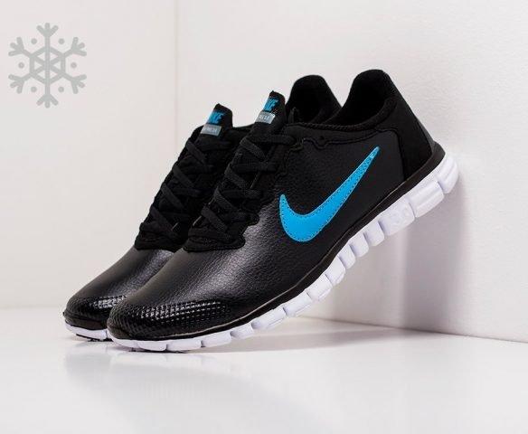 Nike Free Run 3.0 leather black-blue
