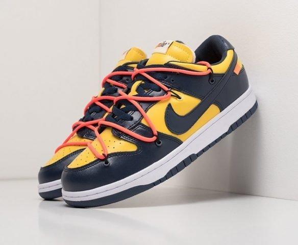 Nike SB Dunk Low  x OFF-White black-yellow