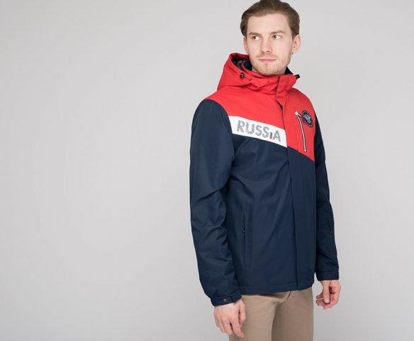 Куртка Россия красно-синяя